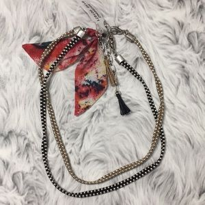 Free People Double Choker With Tassels